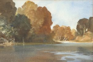 Sir William Russell Flint; Autumn at Arundel