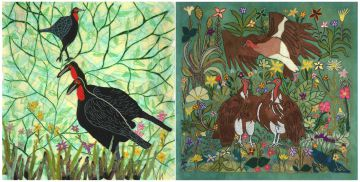 Keiskamma Art Project; Ground Hornbill; and Vultures, two