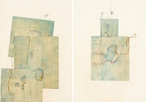 Judith Mason; Patchwork, Scarecrow I and II, a pair
