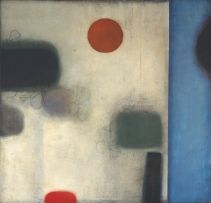 Douglas Portway; Abstract with Red Circles