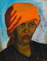 Maggie Laubser; Portrait of Mena