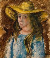 Wolf Kibel; Girl in a Blue Gown