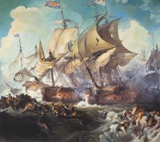 Gerhard Batha; Battle of the Glorious First of June, 1794, after Philippe-Jacques de Loutherbourg