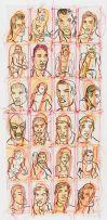 Conrad Botes; Untitled (Male Portraits II)