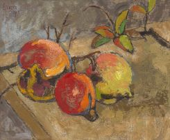 Gregoire Boonzaier; Three Pomegranates