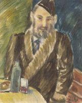 Wolf Kibel; Seated Man