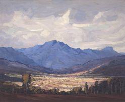 Jacob Hendrik Pierneef; Extensive Mountain Landscape