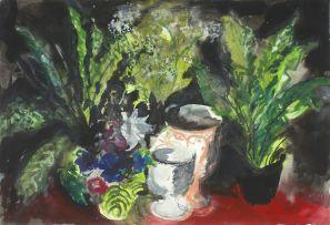 John Piper; Untitled (Pot Plants)