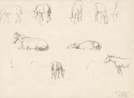 Maggie Laubser; Studies of Horses