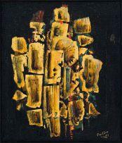 Alexis Preller; Abstract Composition in Gold