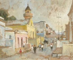 Terence McCaw; Early Morning, Chiappini St, Malay Quarter