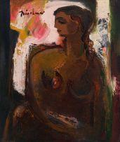 Carl Büchner; Seated Nude