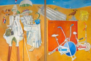 Stanley Pinker; His and Hers or Decline and Fall, diptych