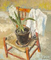 Freida Lock; A White Hyacinth on a Chair