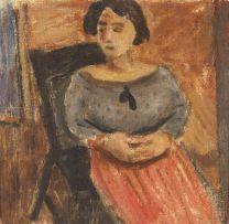 Wolf Kibel; Seated Woman