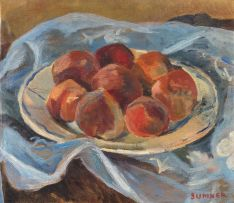 Maud Sumner; A Plate of Peaches
