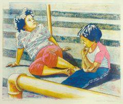Marianne Podlashuc; Children on Steps