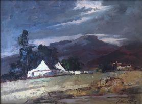 Johannes Oldert; Cottage by a Mountain