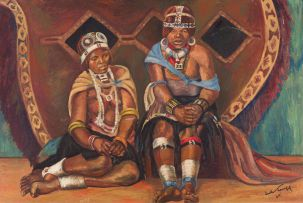 Jack Lugg; Women in Traditional Dress