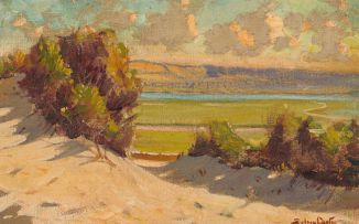 Sydney Carter; Rivermouth with Dunes