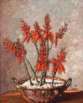 Robert Gwelo Goodman; Copper Pot with Aloes