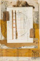 Georgie Papageorge; Preparatory Sketch for 'Through the Barrier'