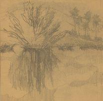 Carl Ossmann; Blie Skizze (Blue Sketch)