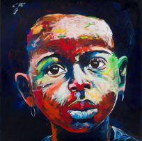 Nelson Makamo; Portrait of a Girl Wearing Earrings