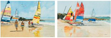 Denby Meyer; Low Tide; A Time to Sail, two