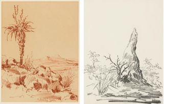 Arnfried Blatt; Landscape Studies, two