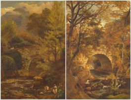 Charles Rolando; Malay Washerwomen on the Liesbeek River, two