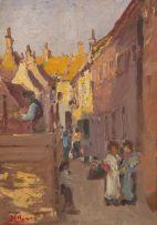 Hugo Naudé; Street Scene, Utrecht Holland
