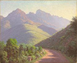Jan Ernst Abraham Volschenk; Morning Light: A South African Mountain Scene