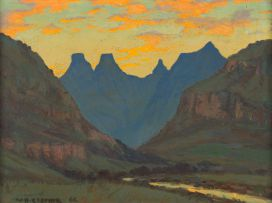 Willem Hermanus Coetzer; Mont Aux Source (sic) – Cathedral Peak, Drakensberg