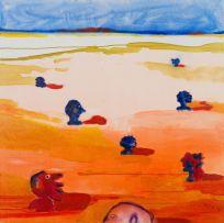 Robert Hodgins; Landscape with Heads