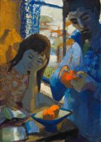 Marjorie Wallace; Woman, Man and Oranges
