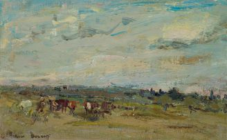 Adriaan Boshoff; Landscape with Cows