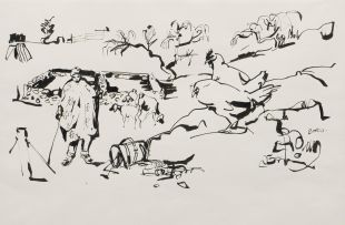 Walter Battiss; Kraal Scene