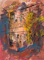 George Enslin; Japanese Street Scene