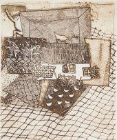 Pieter van der Westhuizen; Farm Scene with Chickens