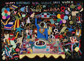 Mapula Embroidery Project; Happy Birthday Tata Tatane Tate Vader