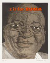 Anton Kannemeyer; Alphabet of Democracy Series: Z is for Zuma