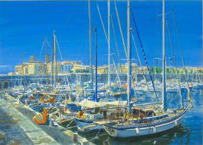Gerhard Batha; Moored Yachts at The Riviera