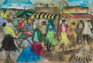 Joe Maseko; Market Scene