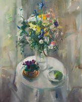 Louis van Heerden; Still Life with Vase of Flowers