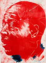 Nelson Makamo; Red Portrait of a Man
