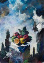 Louis van Heerden; Abstract Still Life with Fruit