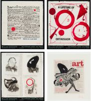 William Kentridge; Telegrams from the Nose, posters, four