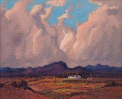 Jacob Hendrik Pierneef; Cape Farm Landscape