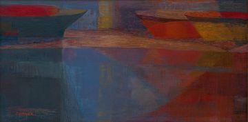 Maud Sumner; Thames, Evening Barges